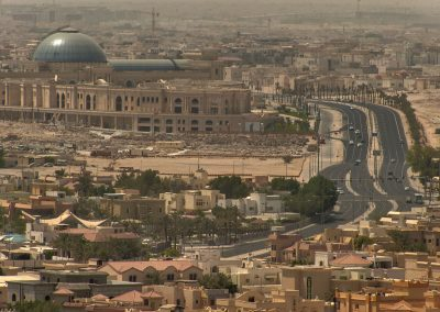 Al Hazm Mall, in its background