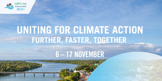 COP23 in Bonn, Germany on November 6 to 17, 2017